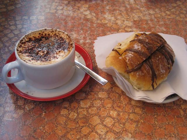 Typical italian breakfast flashes and snapshots for Italian breakfast