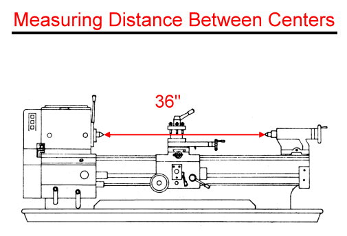 Measure Distance Between Centers Metal or Wood Lathe