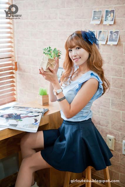 3 Lee Eun Hye in Blue-very cute asian girl-girlcute4u.blogspot.com