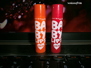 Maybelline Baby Lips Color in Berry Crush and Coral Flush Packing