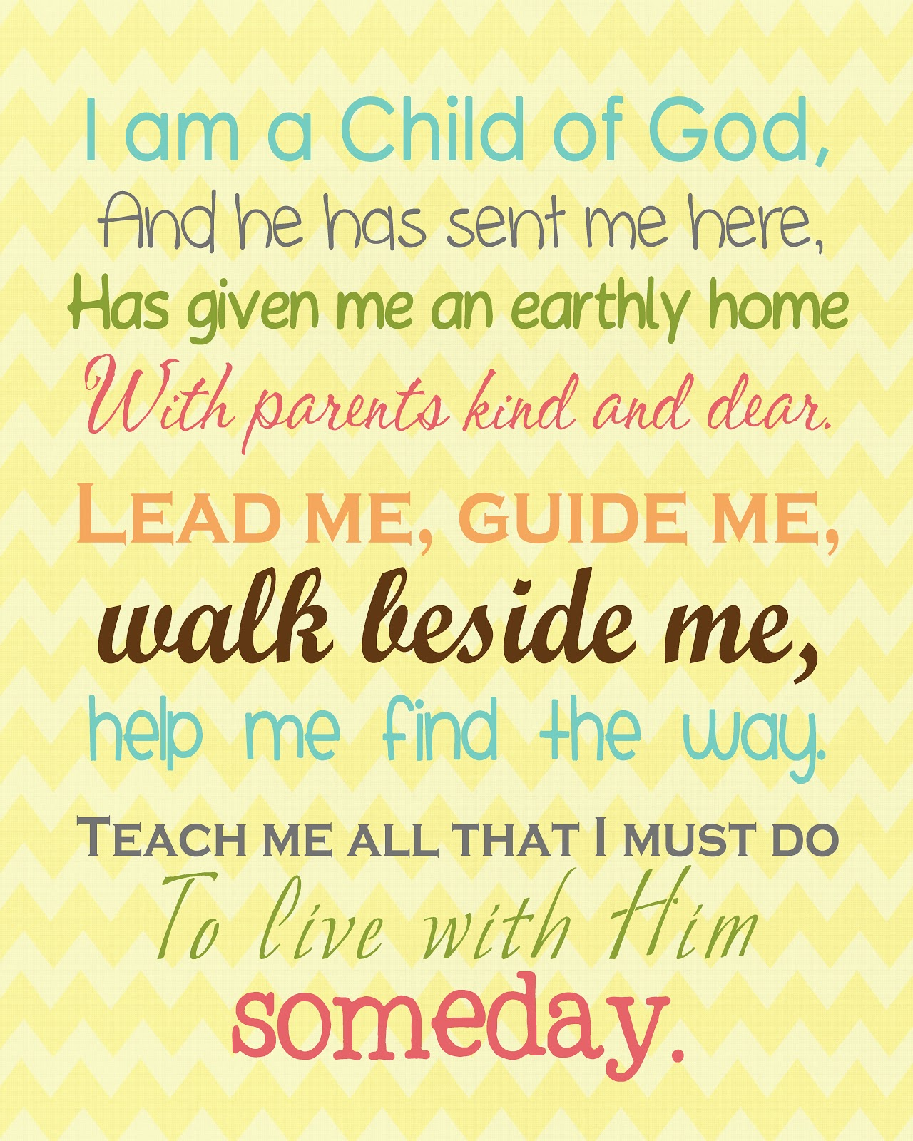 Free LDS Primary & Youth Printables