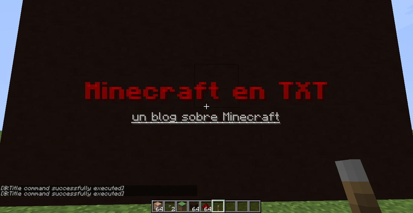 minecraft en txt: Comandos para títulos en Minecraft 1.8