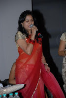 Singer Sunitha transparent saree still