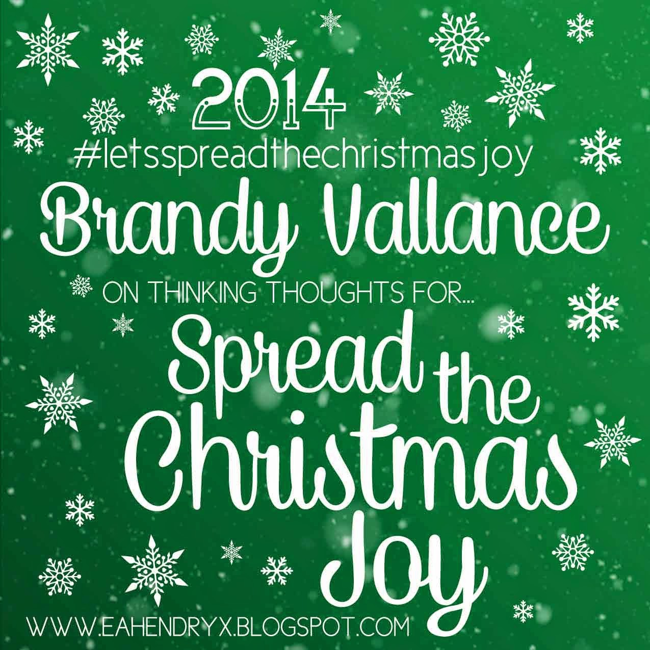 Create Explore Read: Brandy Vallance | Spread the Christmas Joy