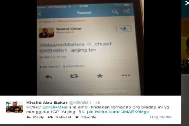 Kenyataan Biadap Dua Pengguna Twitter Ke Atas PDRM
