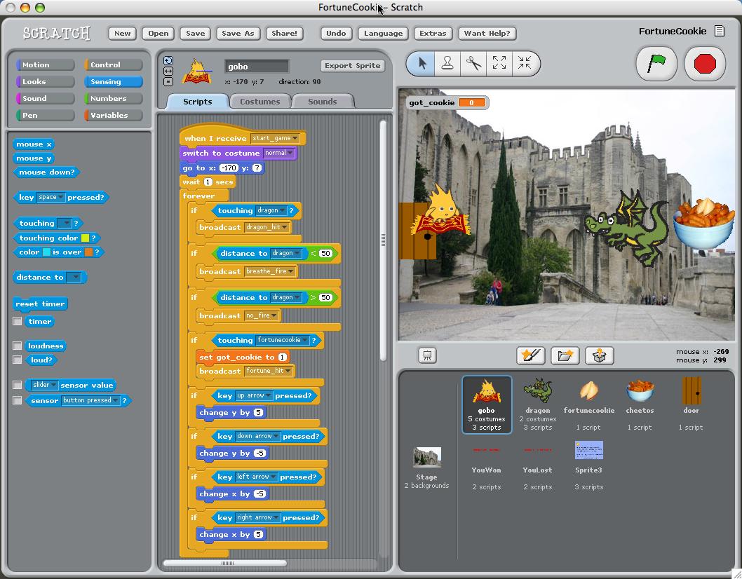 Scratch 1.4 - μία γλώσσα προγραμματισμού