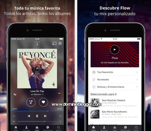 Escucha musica gratis en tu iPhone con Deezer Music
