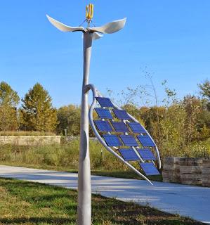Robot Flor Impulsado a Energia Solar