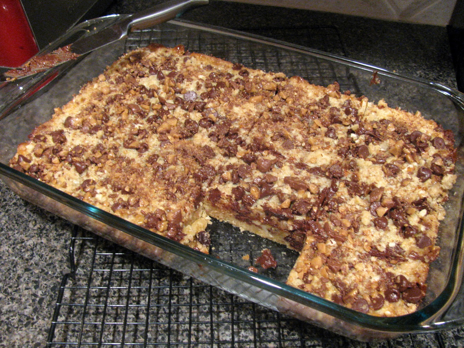 ... ¼ cup toffee bits cool completely cut into bars makes about 36 bars