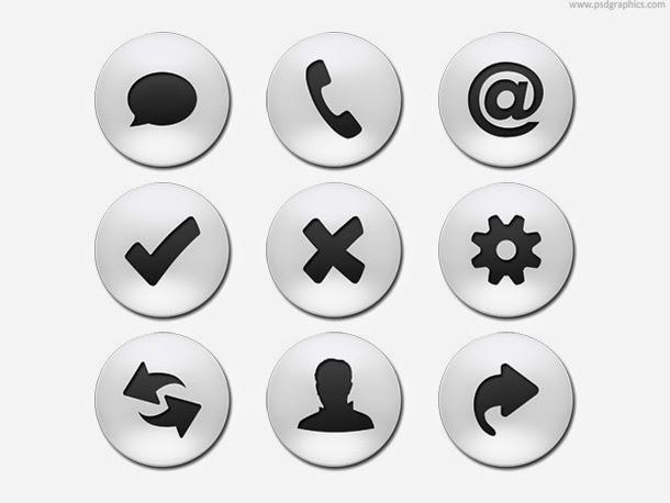 Business Web Buttons PSD