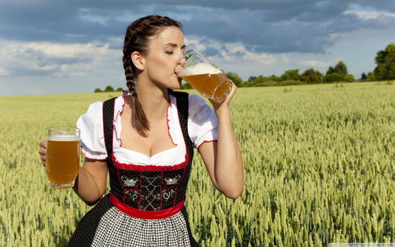 German Women Drinking Beer