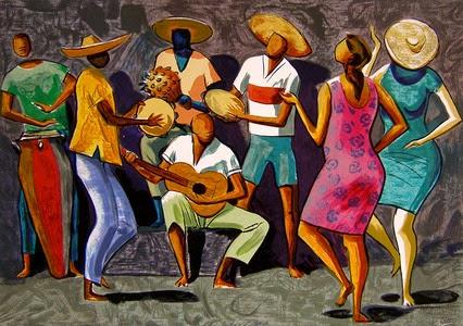 pintura de músicos baianos