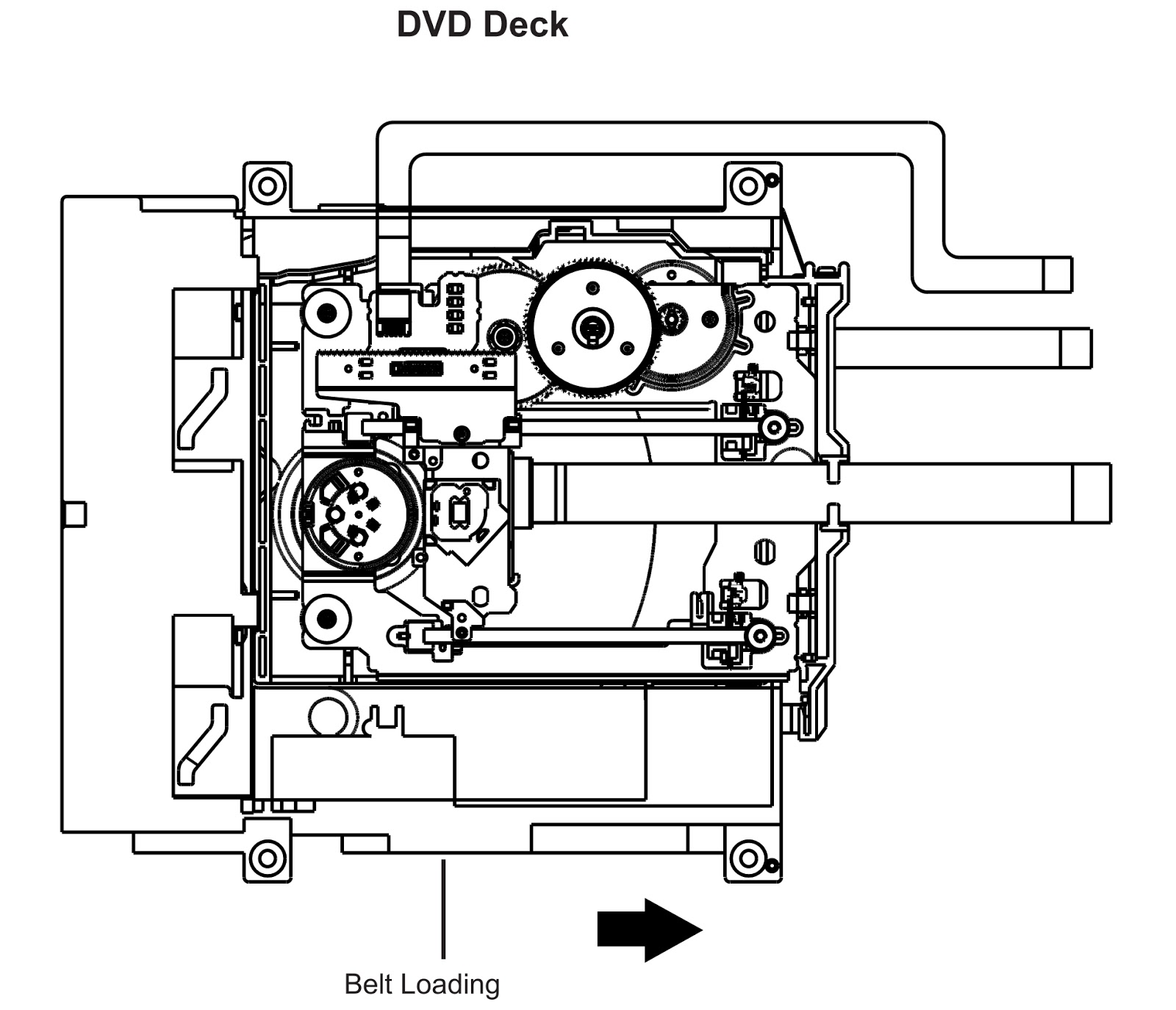 rca 32wd26d - lcd tv - password cancellation - disc removal method at no power supply