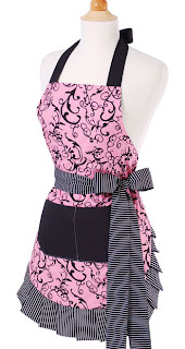 chic pink front with bow Flirty Apron #Giveaway