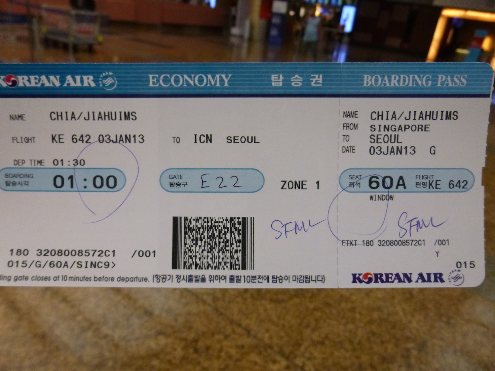 how to cancel korea air ticket