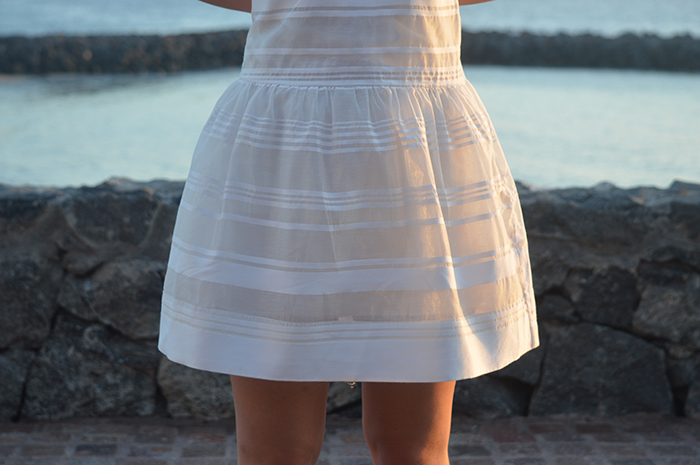 white asos dress fashion bloggers