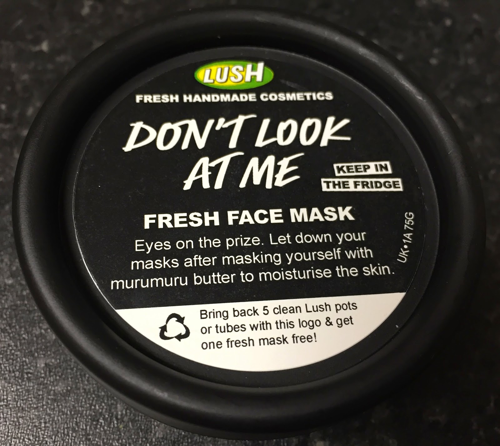 Dont look at me lush face mask review - Don T Look At Me Fresh Face Mask