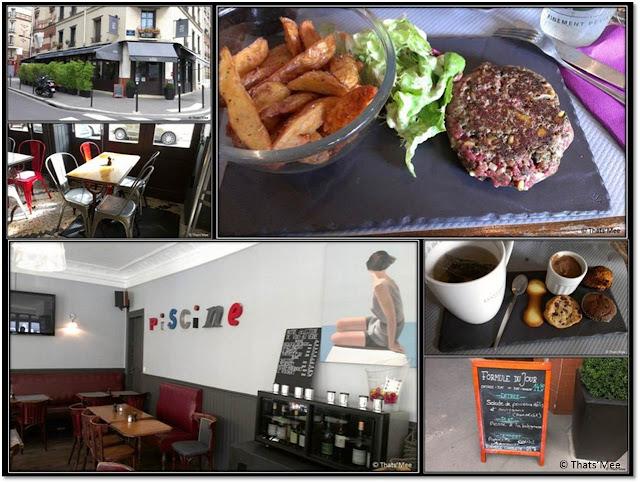 bistro restaurant 158 coté piscine Boulogne Billancourt rue du vieux pont de sèvres
