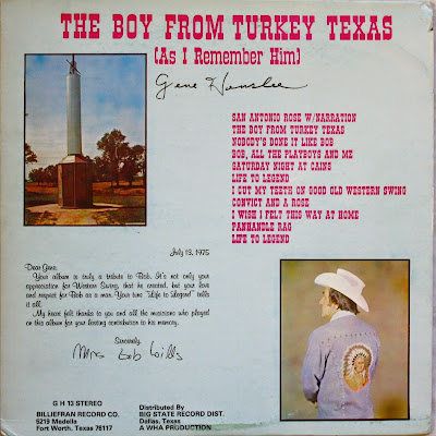 The Boy From Turkey Texas (As I Remember Him) - Gene Henslee
