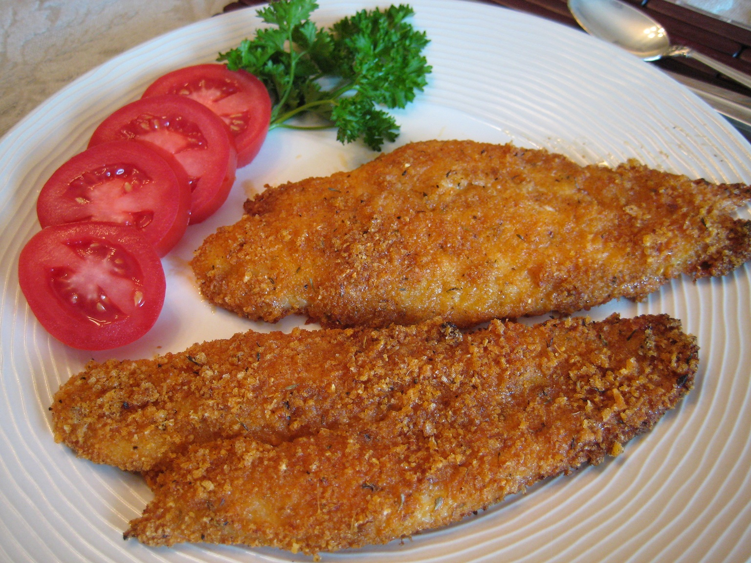 ... fried fish i would recommend any white fish for frying my fish of