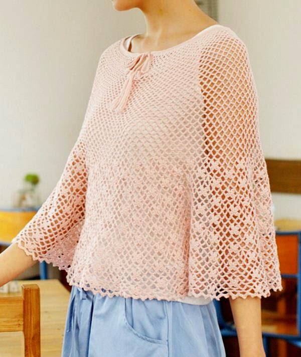 Free Pattern Easy Crochet Poncho : Stylish Easy Crochet: Crochet Poncho Pattern Free ...
