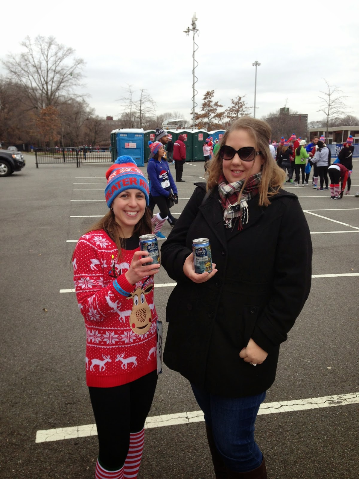 the ugly sweater run post race beer