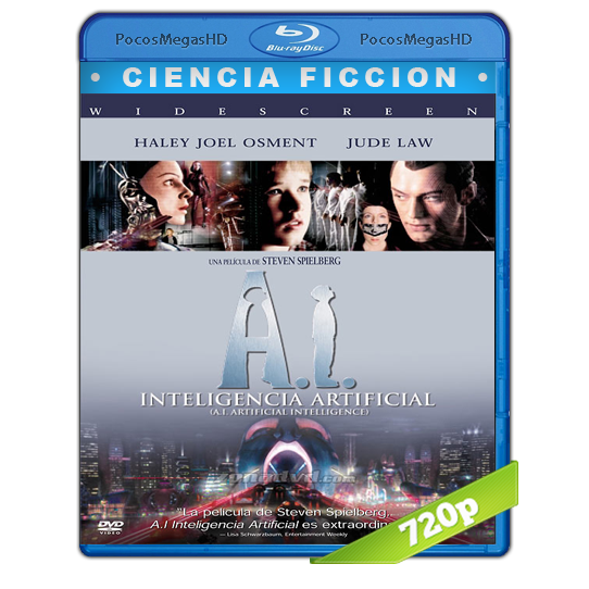 A.I. Inteligencia Artificial (2001) BrRip 720p Latino AC3