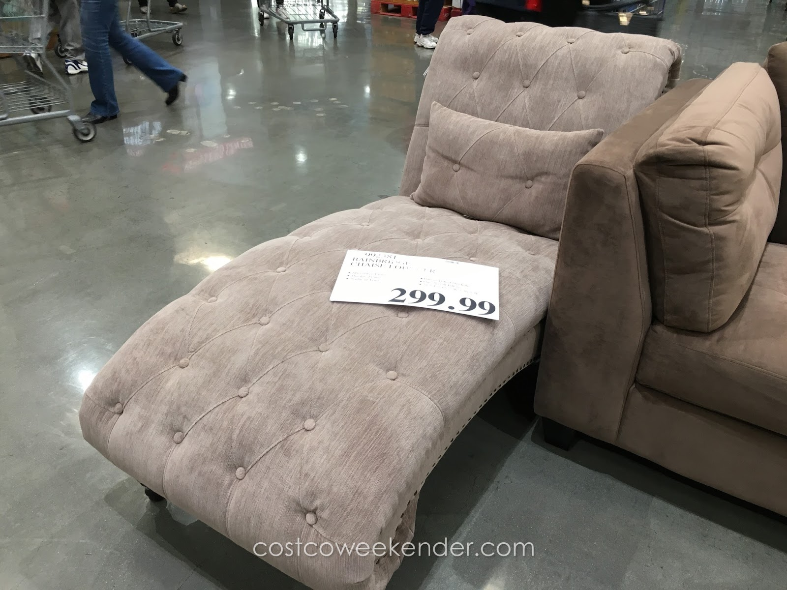 Bainbridge chaise lounger chair costco weekender for Ava chaise lounge costco