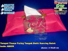 Tempat Tissue Furing Tengah Batik Kancing Batok