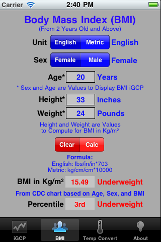 how to compute body mass index manually
