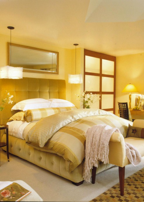 Best colors small bedrooms new 2013 Master bedroom with yellow walls