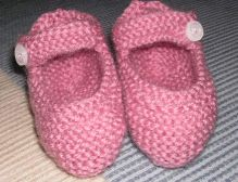 How to Knit Basic Mary Jane Baby Booties Part 1 (Left