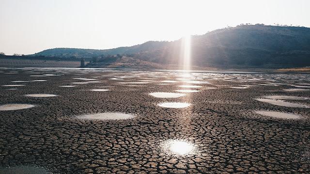Avis Dam in Windhoek Namibia drought