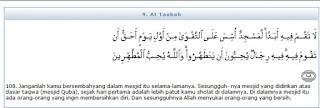 ilmu 31  Surat AtTaubah ayat 108 serta asbab dan tafsir depag RI