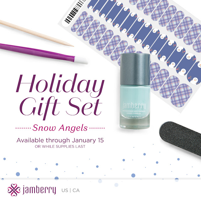 Jamberry holiday gift sets, Jamberry nail wraps, nail art, nail polish, holiday gift set, christmas gifts, winter wishes, all is bright, snow angels