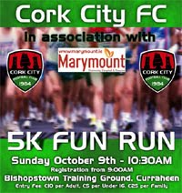 Cork City FC 5k...Sun 9th Oct 2016