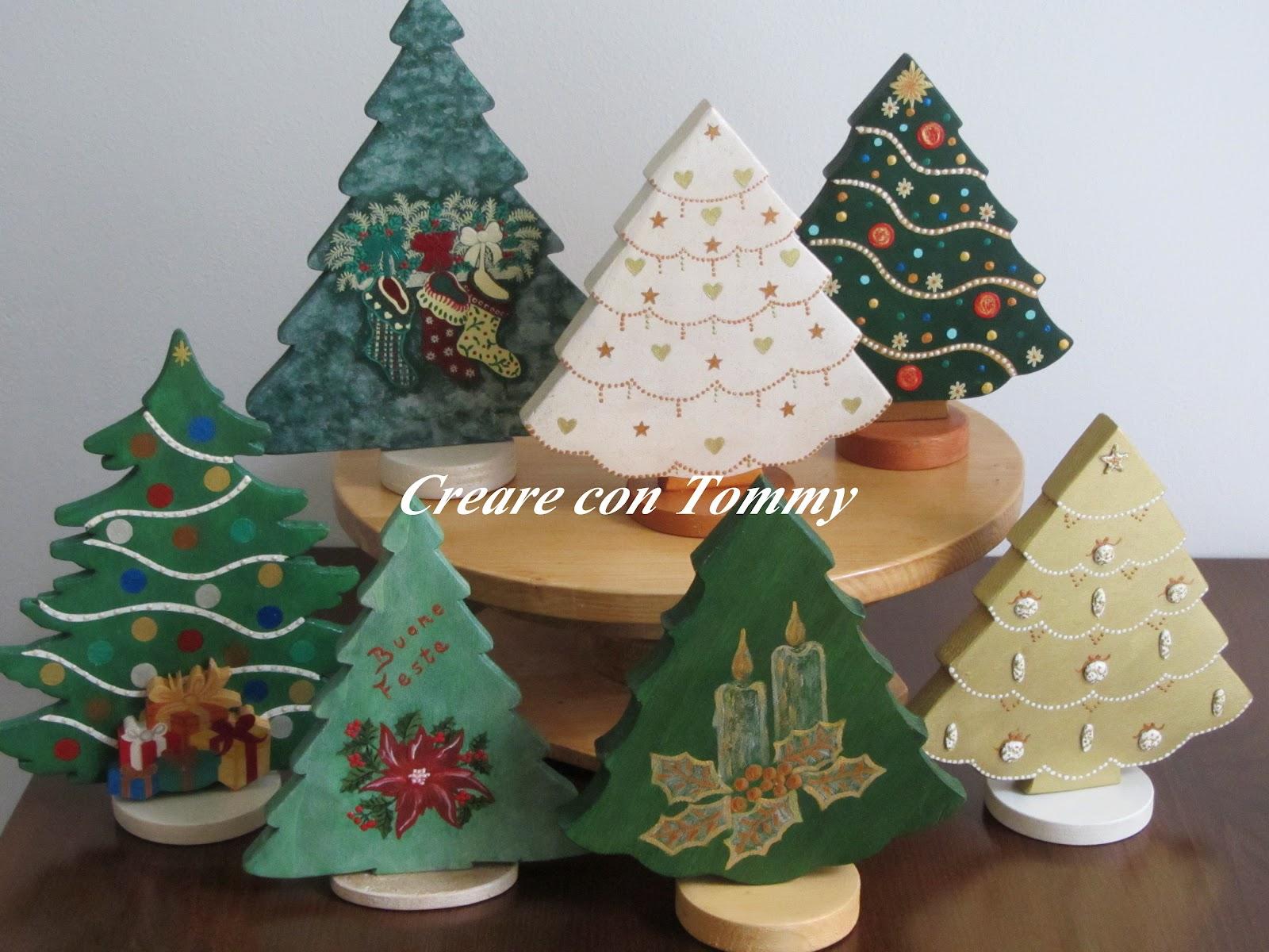 Creare con tommy alberi di natale in legno prima parte - Decorazioni natalizie fatte a mano per bambini ...