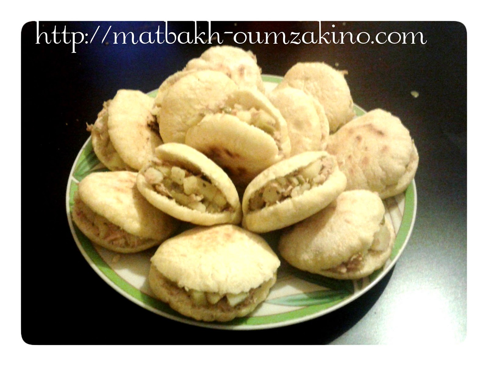 mini batbout pomme de terre thon olive matbakh oumzakino