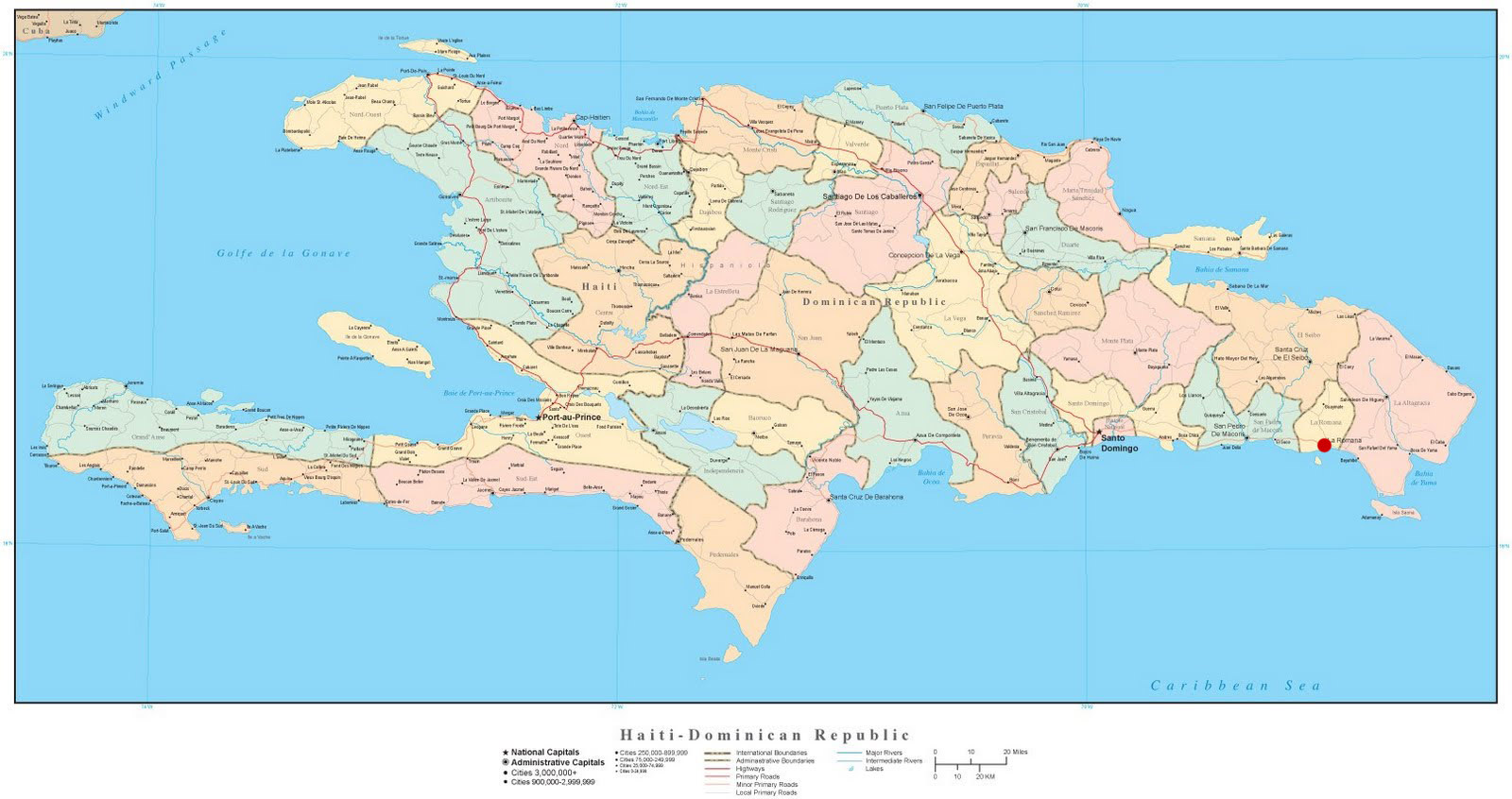 on this day 20 years ago i was serving as a missionary in the town of la romana out on the eastern end of the dominican republic the red dot on the map