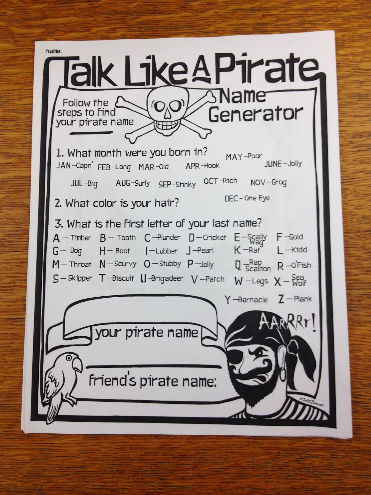 http://www.teacherspayteachers.com/Product/Talk-Like-A-Pirate-Day-Name-Generator-1454159