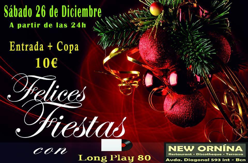 Flyer Fiesta Felices Fiestas 80s