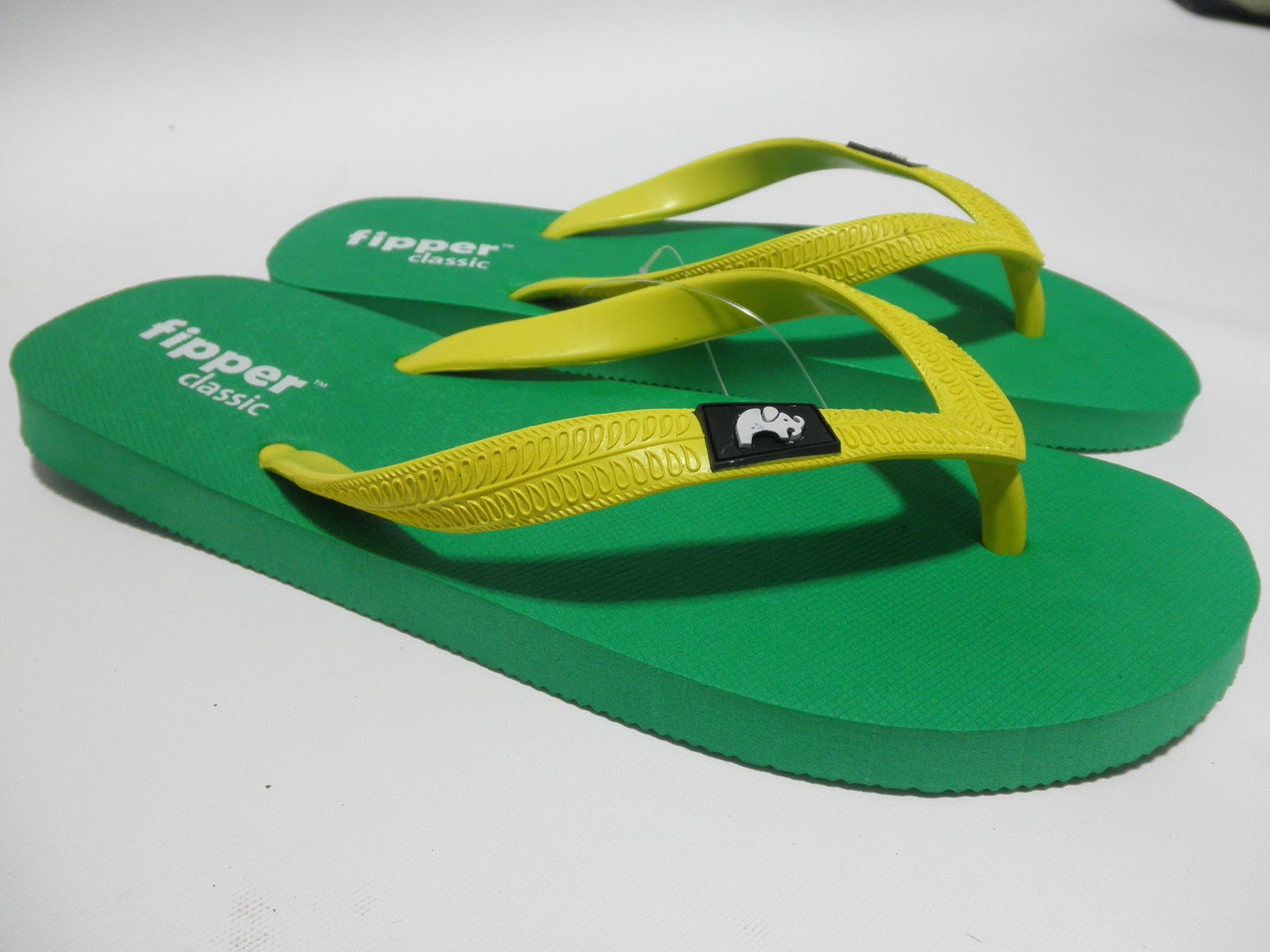 Fipper Classic Green-Yellow Slipper