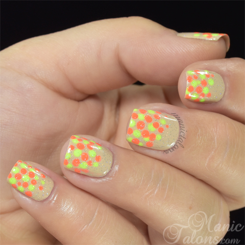 Neon and Nude with Girly Bits Lacquer