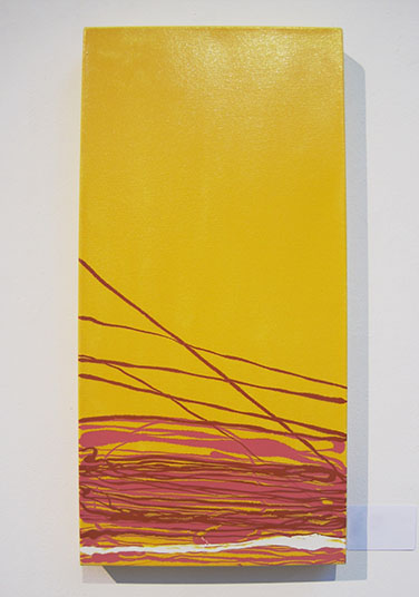 Yellow pink and red painting