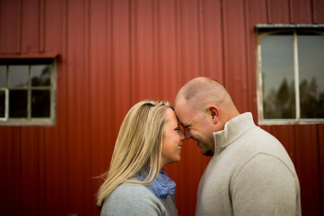 Engagement Photo near Barn