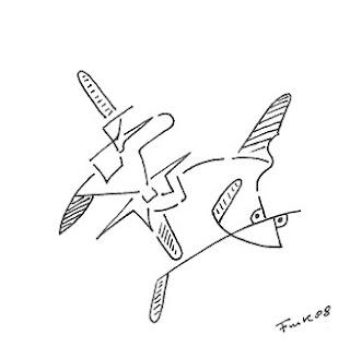 Zeichnung Bild / painting picture : Fischaugen / fischeyes