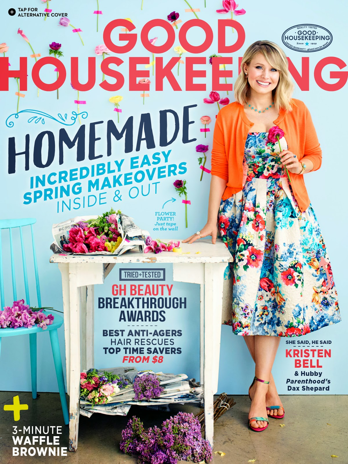 Actress, Singer @ Kristen Bell - Good Housekeeping, May 2015
