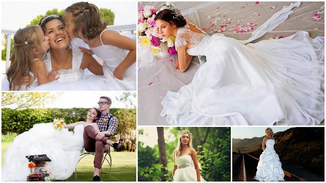 Imagenes Chicas con Hermosos Vestidos de Novia Blancos