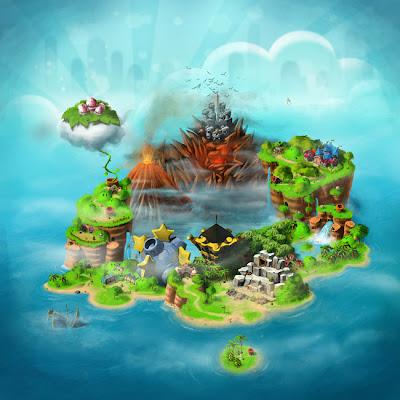 Super Mario RPG mapa del mundo