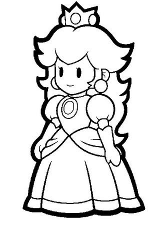 Desenhos Para Colorir super mario luigi e a princesa